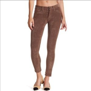 Joes Jeans icon ankle skinny faux suede jeans.